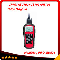 Wholesale 2014 Autel MD801 Pro MaxiDiag PRO MD Code Scanner in code scanner JP701 EU702 US703 FR704 multi language In stock