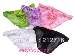 Wholesale Sexy New Men s Lace Pouch underwear Thong Panty Briefs Multi colors