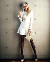 2014 Fashion Dresses Runway style One piece white bodycon sh...