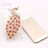 Wholesale 2014 Peacock Luxury Perfume Bottle Design TPU Case Chain Lanyard Handbag Cases Back Cover For iPhone S Top Quality Factory Outlet Price