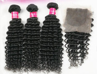 Indian Hair Loose Wave Under $200 2014 hot sale! New Brazilian Virgin Hair Extension Body Wave 3 Bundles With 4x4 Lace Closure Human Hair Weaves 4 pcs lot