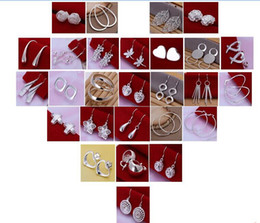 hot New mixed 50pair Lady girl earring 925 sterling silver jewelry factory price Fashion Jewelry Manufacturer 995