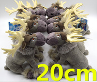 plush toys - Frozen Sven Animals Plush Toys Baby Dolls Cartoon Toddler Boy Girl Hand Toys Size CM GX743