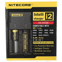 Wholesale New Nitecore I2 Universal Charger for Battery E Cigarette in Muliti Function Intellicharger Rechargeable DHL