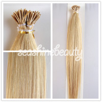 Brazilian Hair #1b/2/4//6/8/16/18/60/613 Straight 100% Brazilian Human Remy Hair I-Tip Hair Extension Pre-bonded Stick hair Extension #613 Blonde Color 6A Grade No Shedding 300g lot