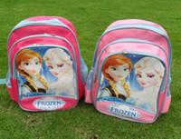 Unisex school bags - Frozen school bag kids girl s students school bags frozen Anna Elsa backpacks school bags