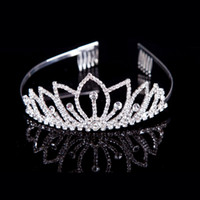 Fascinators Rhinestone/Crystal  Top quality Luxury Classic Bride European Rhinestone Crystal Bridal Hair Crown Tiara Wedding Dress Accessories Free Shipping Charming