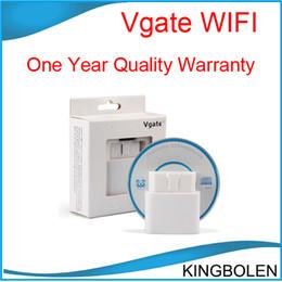 Wholesale Best Quality Vgate Wi Fi wifi ELM ELM327 OBD OBD2 OBDII Protocols Auto Car Diagnostic Interface Scanner tool One year warranty