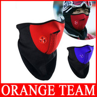Wholesale 2pcs New Cheap Neoprene Neck Warm Half Face Mask Winter Veil For Sport Bike Motorcycle Ski Snowboard Bicycle Face Mask