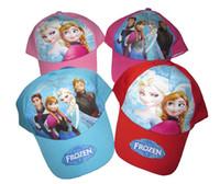 Wholesale Children Hat Kids girls boys caps Elsa anna Sofia Despicable Me Minion Spider man cartoons cut leisure hat Visors