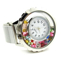 battery float - 2014 New Hot Sell floating charm locket Watch Stainless steel watch High quality Free gift pearl and birthday LSLB01
