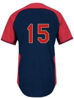 Wholesale American MLB League All Star Dustin Pedroia Blue Blue Baseball Jerseys Cool Base Jersey Mix order