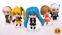 Multicolor diva - 5pcs set Japan anime Nendoroid VOCALOID Hatsune Miku Project Diva Miku Luka PVC doll Action figure