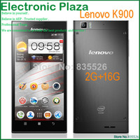 Cheap In stock 5.5'' Original Lenovo K900 mobile phone Dual core 1920*1080 RAM 2G ROM 16G Android 4.2 GPS WIFI Russian 3G Smartphone