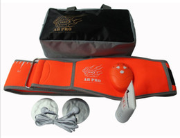 Wholesale AB Pro Toning Belt Abdominal Muscle Toner Fitness Slimming Belt Electrical Muscle Stimulation Belts DHL