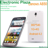 Wholesale Rooted Russian Cheap Phone Unlocked Lenovo A850 MT6582M Quad core Smartphone G G Android dual sim G mobile Phones GSM GPRS WIFI WCDMA