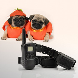 Wholesale for Dogs m LV Training Collar Shock Vibrate LCD Remote Pets overall Rechargeable Waterproof Dog Pet Products H10843