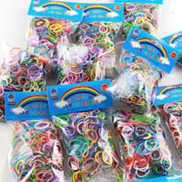 500packs (600 pcs mix Color pack) Loom Bands Rubber Wrist Ba...