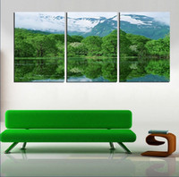 Printed Modern Landscape 3 panel Free Shipping Hot Sell Modern Wall Painting Between landscape Home Decorative Art Picture Paint on Canvas Prints DOU
