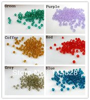 Fashion beads for curtains - mm Crystal Glass Faceted Bicone Curtains Beads In Bulk For Jewelry Making