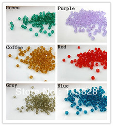 Free Shipping! Wholesale 500pcs lot 4mm Crystal Glass Faceted Bicone Curtains Beads In Bulk For Jewelry Making