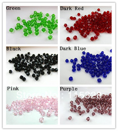 Free Shipping! Wholesale 500pcs lot 6mm Crystal Glass Faceted Bicone Curtains Beads In Bulk For Jewelry Making