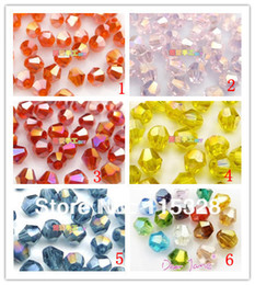 Free Shipping! Wholesale 1000pcs lot 3mm Crystal Glass Faceted Bicone Curtains Beads In Bulk For Jewelry Making