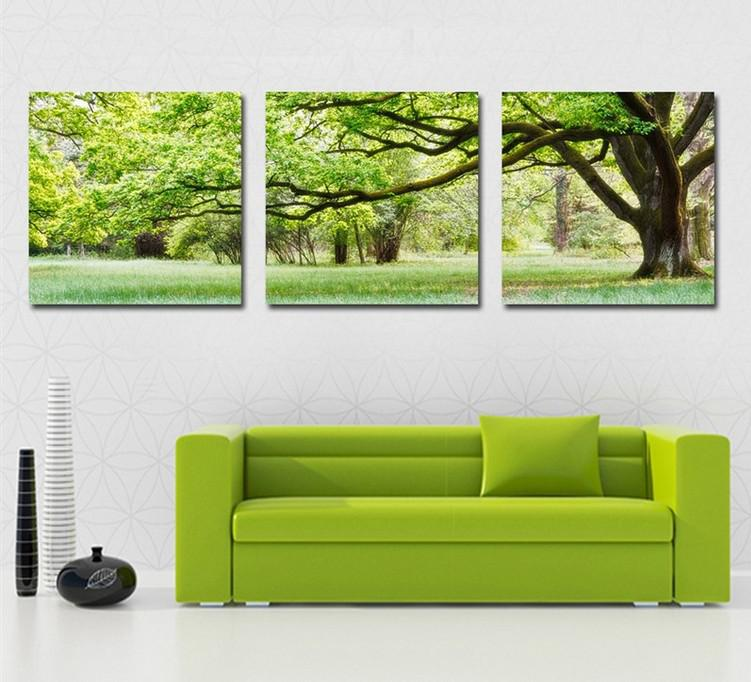 Tree Canvas Wall Art canvas wall art. waterfall painting canvas 5 panel wall art
