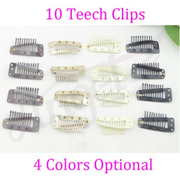 Wholesale 1000pcs mm teeth Metal wig Snap Clips with silicone back for hair extensions or replace weft clip use Colors Optional