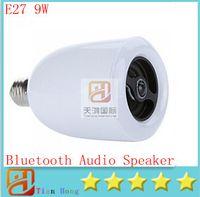 9w Wireless E27 LED Light Lamp Bluetooth Audio Speaker Music...