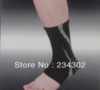 Wholesale SIBOTE elastic knitted jacquard compression support for ankle joint soccer ankle pad ankle brace guard spor
