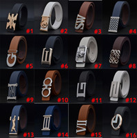 Wholesale Fashion Mixed style mixed color unisex leather waist belt men s buckle belt strap for men high quality