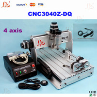 Wholesale CNC Router3040Z DQ axis Engraving machine Milling Machine Support D Work With Free Gift
