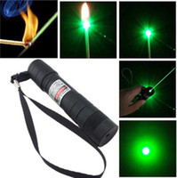 Wholesale Accept Return nm Professional Powerful Green Laser Pointer Pen Lazer Light with Battery Retail Box Focus Burning Wood Matchs
