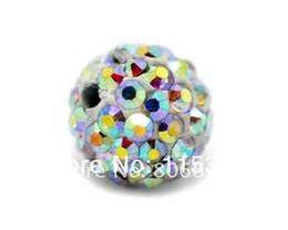 2017 libre pc Free Shipping 20 Pcs Clear AB couleur Pave Dense/Bling strass boule perles 10mm pour la fabrication en gros de bijoux libre pc ventes