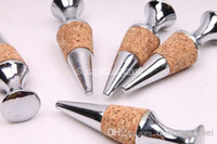 Cheap Wholesale - 100pc Brand new Twist corks zinc alloy round shape red wine bottle stopper wedding party gifts#Z310