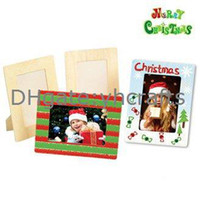0-12M Multicolor Wood 4PCS LOT.Paint unfinished square picture frames,Photo frame,Home decoration.Christmas oranment.Wood crafts.Kids toys.19.5x14.5cm