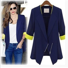 Winter WOMAN Jackets coat SUIT BLAZER FOLDABLE BRAND JACKET women clothes suit Zipper shawl cardigan Coat blue,white