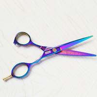 Wholesale 3 New arrive Purple titanium inch high quality hairdresser shear hair salon product hot sale hair scissors