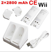battery charge station - Double Dual Charging Station Charger Dock Rechargeable Battery Cable Cord For Nintendo Wii Remote top sale hight quality