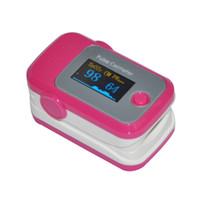 Wholesale PINK Color OLED Fingertip Pulse Oximeter with Audio Alarm PR SPO2 Pulse waveform bargraph display Monitor