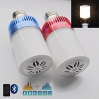 Wholesale iClover Wireless E27 LED Light Lamp Bluetooth Audio Speaker Music Playing Lighting Bulb Loulderspeaker