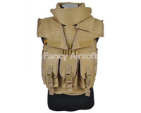 Wholesale Airsoft Military Airsoft Wargame Paintball Tactical SDU Body Armor Vest Tan High Quality Nylon Vest Tan