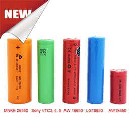 Genuine MNKE AW VTC Batteries 18350 18500 18650 26650 Battery For Ecig Mechanical Mod vs penny king panzer Fedex