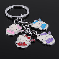 Wholesale Key Rings with four Lover Bears Metal key Chain Key Ring Promotonal Products Car key ring pc