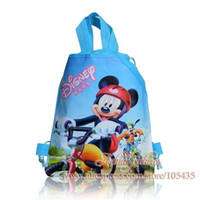 Wholesale 1Pcs Kids Cartoon Drawstring Backpack School Bags Tote bags CM Mixed Hello kitty Mickey super mario cars princess Bags
