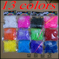 Wholesale 2014 New Rainbow Loom Kit DIY Wrist Bands Rainbow Loom Bracelet for kids90 package bands S clips Colors