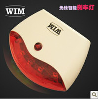 Wholesale WIM Wireless Smart Sensor Brake Light Led UFO LED Bicycle Cycling Tail Light Bike accessories