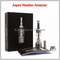 Replaceable 5.0ml Glass Original Aspire Nautilus Atomizer Aspire Adjustable Airflow Glass Tank for Electronic Cigarette E Cigarette Cig Authentic Dual Coils Tank