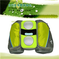 2 Universal Outdoor hot sell man stereo speaker bike bags for outdoor riding play MP3 MP4 iphone ipad music